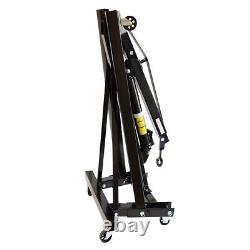 1000KG 1Ton Folding Engine Crane Stand Black Hydraulic Lift Hoist Engine Jack UK