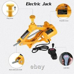 12V 3Ton Electric Hydraulic Jack & Impact Wrench Roadside Tire Lift Repair Tools