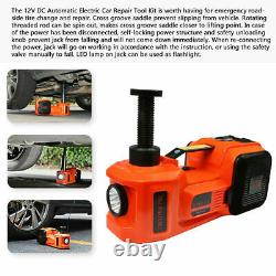 12V 5T 5Ton Car Jack Lift Electric Hydraulic Floor Jack Impact Wrench Tire Tool
