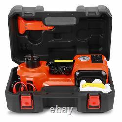 12V 5Ton Car Jack Hydraulic Electric Floor Jack Portable Lift Tire Repair Kit 5T