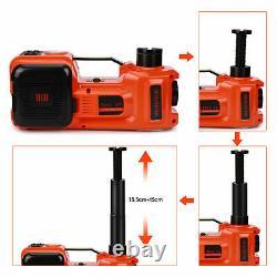 12V 5Ton Car Jack Hydraulic Electric Floor-Jack Portable Lift Tire Repair Tool