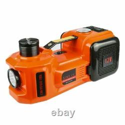 12V 5.0 Ton Electric Hydraulic Floor Jack Lifting Tool Tire Inflator 3 in 1 Set