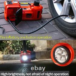 12V 5 Ton Electric Hydraulic Floor Jack Lift Tire Inflator Pump Car Van Garage