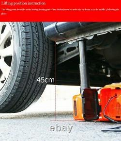 12V 5 Ton Electric Jack Hydraulic Floor Lifting with impact Wrench Tire Change