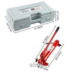 12 Ton Hydraulic Jack Body Frame Porta Power Repair Kit 2M Hose Lift Ram