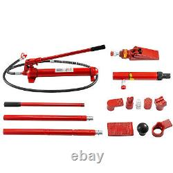 12 Ton Porta Power Hydraulic Jack Body Frame Repair Kit 2M Length Hose Lift Ram