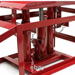 1 Pair Car Vehicle Ramp Hydraulic Lifting Jack 2 Ton Adjustable Height Garage