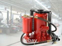 20 Ton Air Hydraulic BOTTLE JACK Manual 40,000lb Garage Shop Lift Tools HD Jacks