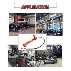 20 Ton Porta Power Hydraulic Jack Air Pump Lift Ram Body Frame Repair Tool Kit