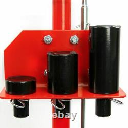 22 Ton Air Hydraulic Floor Jack Lift With Wheel Auto Truck Semi Bus Repair Red