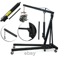 2Ton Heavy Duty Engine Crane Stand Hydraulic Hoist Lifting Jack Workshop Machine