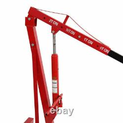 2 Ton Hydraulic Engine Crane Hoist Lift Lifter Folding Stand Jack Garage Mobile