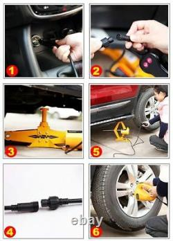 2 Ton Lifting Car Electric Jack Car Air Pump Wrench Auto Multi-Function Tools