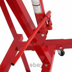 2 Ton Tonne Hydraulic Folding Engine Motor Crane Stand Hoist lift Jack wheels