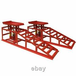 2 X 2 Ton Hydraulic Lift Car Vehicle Ramp Jack Heavy Duty Garage Mechanic Tool