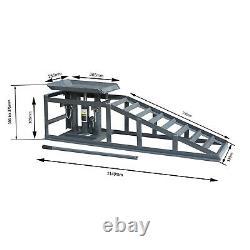 2x Car Ramps Lift 2 Ton Hydraulic Lifting Jack Height Adjustable Garage Tool UK