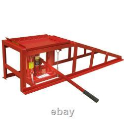 2x Car Ramps Lift 2 Ton Hydraulic Lifting Jack Height Adjustable Workshop Tool