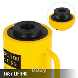 30Ton 4 Stroke Hollow Hydraulic Cylinder Jack 66000LBS Lift Cylinder Industrial