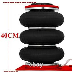 3.5 Ton Car Jack Trolley 3 Bag Pneumatic Air Quick Lifting 400mm Lift Height