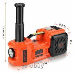 3 Function 5 Ton Electric Jack Hydraulic Floor Lift Jack Lamp & Hammer 12V DC