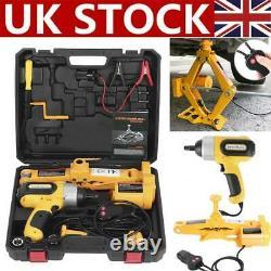 3 Ton 12V Electric Jack Lifting Car SUV Emergency Equipment & Impact Wrench