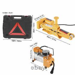 3 Ton 3 in 1 Car Electric Jack Lift + Impact Wrench+ Safety Air Pump Set