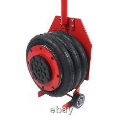 3 Ton 6600 lbs Pneumatic Air Bag Jack Triple Bag 400mm Lift Height Quick Lifting