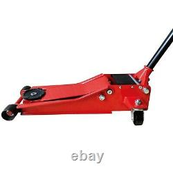 3 Ton 75mm Ultra Low Profile Entry Trolley Jack High Lift Garage Vehicle Car
