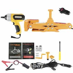 3 Ton Automotive Electric Scissor Car Jack Lift with Wrench Emergency Repair Kit
