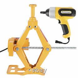 3 Ton Car Electric-Jack Floor Lift Scissor 12V DC Repair Kit & Impact Wrench