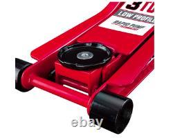 3 Ton Low Profile Car Heavy Floor Jack Rapid Pump Garage Shop Auto Lifting Auto