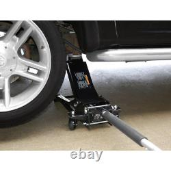 3-Ton Low Profile Floor Jack with Speedy Lift Low-Profile Car Maintenance Home