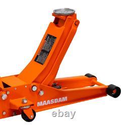 3-Ton Low Profile Floor Jack with Speedy Lift-Orange