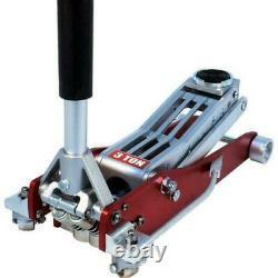 3 Ton Low Profile Twin Piston Quick Lift Aluminium Racing Jack NEW CT1470