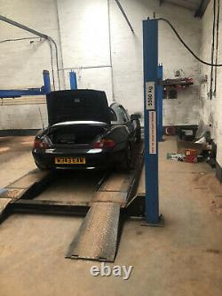 4 POST LIFT CAR / COMMERCIAL VEHICLE RAMP, Tracking plate, 5.5 TON, CENTER JACK