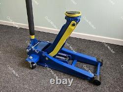 4 Ton Ultra Low Profile Floor Trolley Jack Quick Lift Dual Pump SUVs 4x4 Van