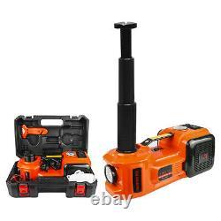 5Ton Car Electric Hydraulic Floor Jack Lift 12V Air Compressor Pump 135-360mm US