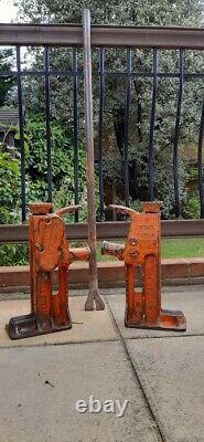 5 TON TOE/ TOP Jacks and Lifting bar, Used in Printing Industries