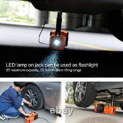 5 Ton 12V 150W Lift Car Auto Hydraulic Electric Jack Safety Hammer Plastic Case