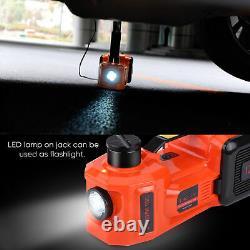 5 Ton 12V Electric Trolley Floor Jack Axle Stand Car Van Garage Lift Tool+Box