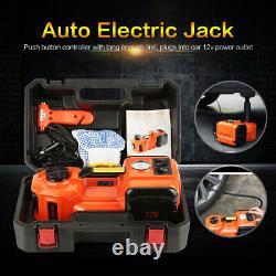 5 Ton 12V Lift Car Auto Electric Jack & Hammer & Air Compressor LED Lamp Kits