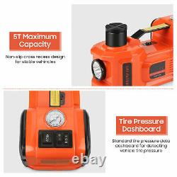 5 Ton 12V Lift Car Auto Electric Jack & Hammer & Air Compressor with LED Lamp
