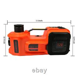 5 Ton Car Electric Hydraulic Jack Air Pump Wrench Set Floor Stand Lifting Tools