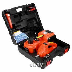 5 Ton Car Electric Jack Hydraulic Floor Lift Jack Garage Emergency Equipment+Box
