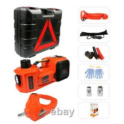 5 Ton Electric Hydraulic Floor Car Jack Lift with Electric Impact Wrench SUV Van
