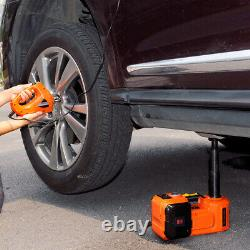 5 Ton Electric Hydraulic Floor Jack Lift+Electric Impact Wrench Car Van