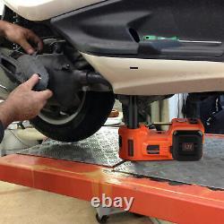 5 Ton Floor Hydraulic Electric Jack Lift Air Compressor Pump Car Van Lifter Tool