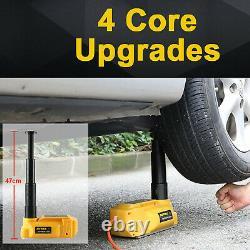 6 Ton Electric Hydraulic Floor Jack 12V Car Jack Lift Impact Wrench Repair Tool