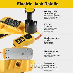 6 Ton Electric Hydraulic Jack Car Truck SUV Floor Jack Lifting Tool Portable 12V