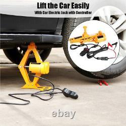 Car 12V DC 3 Ton Electric-Jack Hydraulic Floor Lift Scissor Repair Tire Change